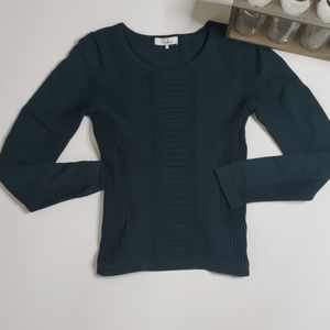 Parker Emerald Green Knit Sweater Top size s